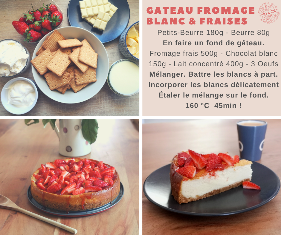 Gâteau fromage blanc & fraises