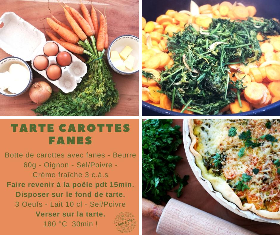 Tarte Carottes Fanes